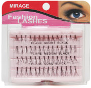 Пучки ресниц узелковые Mirage Fashion Lashes - Short, Medium, Long Black